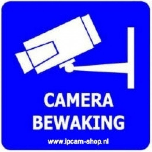 Ipcam Shop Sticker Camera Bewaking